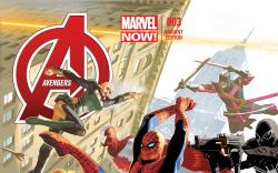 cover from Avengers (2012) #3 (AVENGERS 50TH ANNIVERSARY VARIANT)