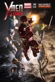 X-Men Legacy #9  (Iron Man Many Armors Variant)