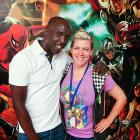 Actor Michael K. Williams with Marvel Web Designer and Photographer Judith Stephens