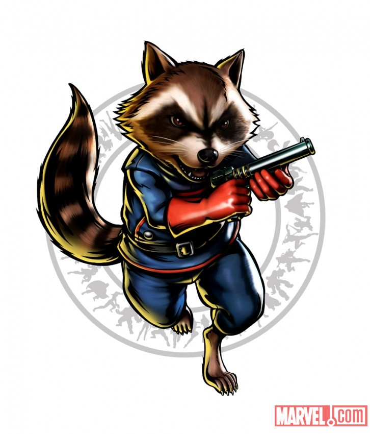 Ultimate Marvel vs. Capcom 3- Rocket Raccoon Character Art