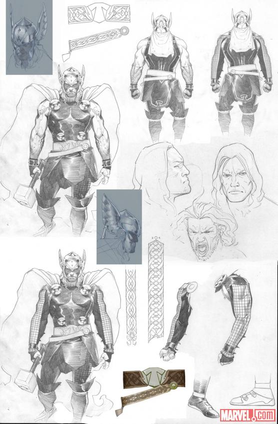Thor: God of Thunder sketch by Esad Ribic