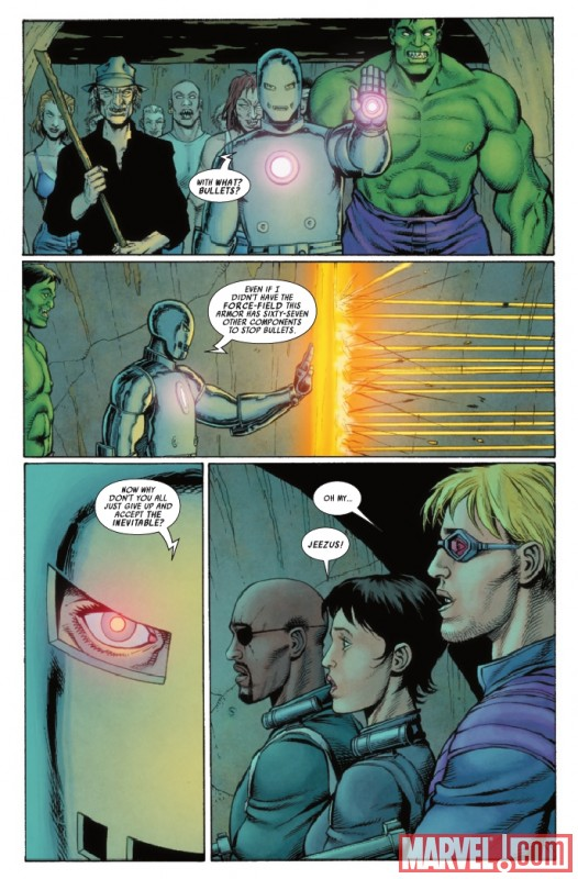 ULTIMATE COMICS AVENGERS 3 #3 preview page by Steve Dillon