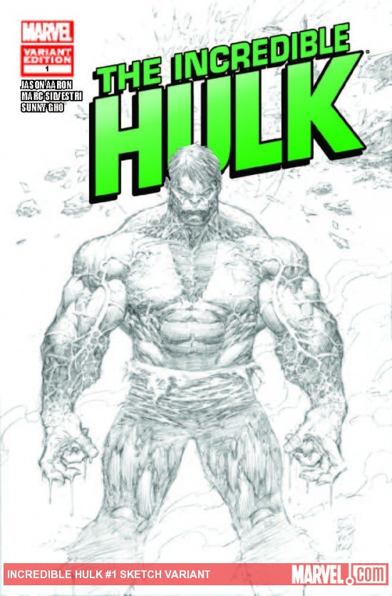 INCREDIBLE HULK 1 SILVESTRI SKETCH VARIANT