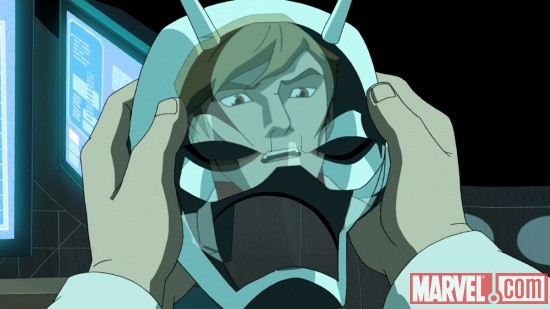 Screenshot of Ant-Man from The Avengers: Earth's Mightiest Heroes!