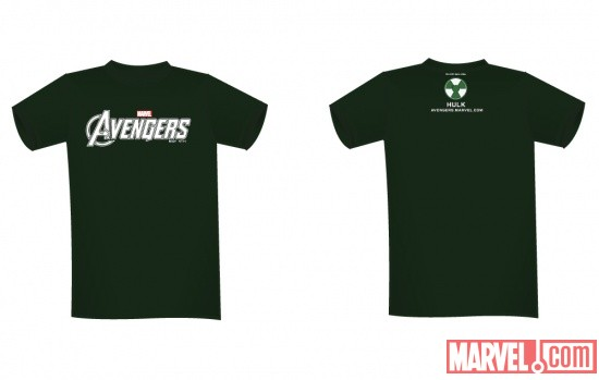 Hulk NYCC 2011-exclusive Marvel's The Avengers tee-shirt