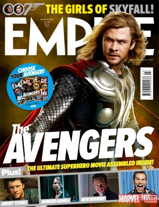 Empire Magazine March 2012 Avengers cover featuring Chris Hemsworth as Thor