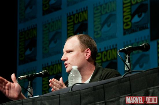 Studios President Kevin Feige at Marvel Studios' Hall H presentation at SDCC 2012