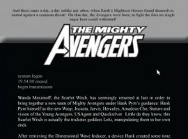Mighty Avengers #28, intro page