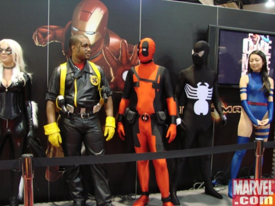 Black Cat, Bishop, Deadpool, Spider-Man and Psylocke