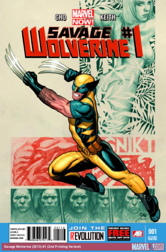 SAVAGE WOLVERINE 1 2ND PRINTING VARIANT (NOW, WITH DIGITAL CODE)