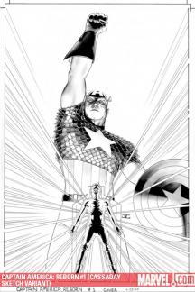 Captain America: Reborn (2009) #1 (CASSADAY SKETCH VARIANT)