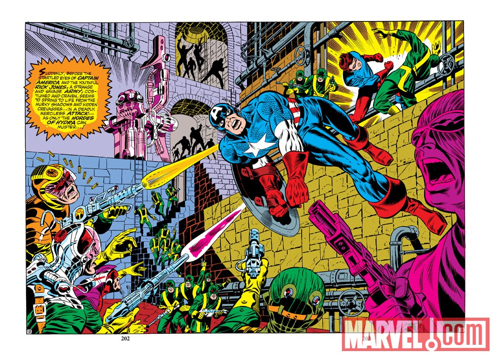 Image Featuring Captain America, Hydra