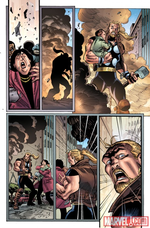 THUNDERSTRIKE #1 (2010) preview art by Ron Frenz 3