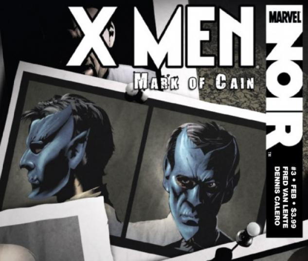 X-Men Noir: Mark of Cain #3 Cover by Dennis Calero
