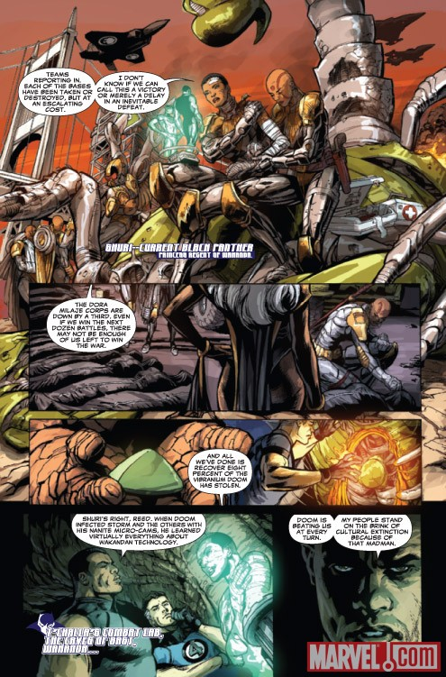 DOOMWAR #5 preview art by Scot Eaton