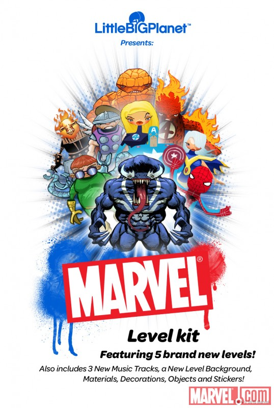 Image Featuring Invisible Woman, Spider-Man, Storm, Thing, Venom (Mac Gargan), Ghost Rider (Daniel Ketch), Doctor Octopus