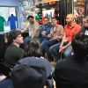 Mark Paniccia addressing the crowd at Midtown Comics' Meet the Publishers