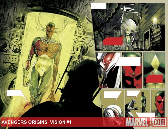 Avengers Origins: Vision preview art by Stephane Perger
