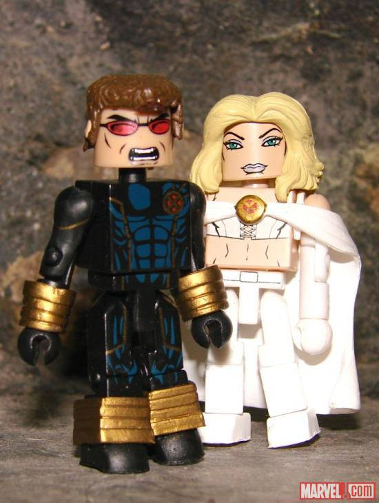 Diamond Select Toys Cyclops and Emma Frost Figures