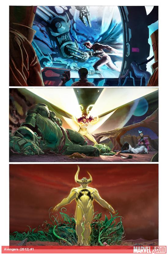 Avengers (2012) #1 preview art by Jerome Opena