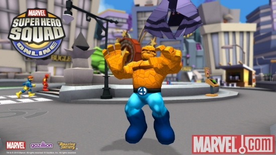 Screenshot of Thing from Super Hero Squad Online