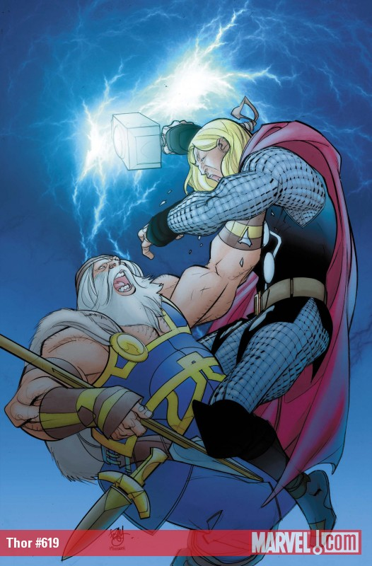 Thor #619 cover by Pasqual Ferry