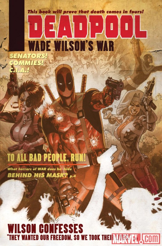 DEADPOOL: WADE WILSON'S WAR #1 cover by Jason Pearson