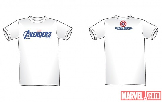 Captain America NYCC 2011-exclusive Marvel's The Avengers tee-shirt
