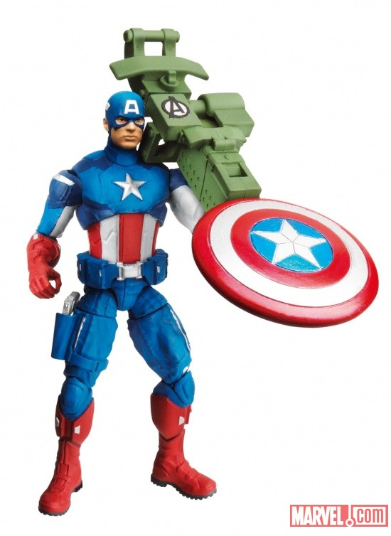Avengers Power-Up Mission Figure Captain America wave 2