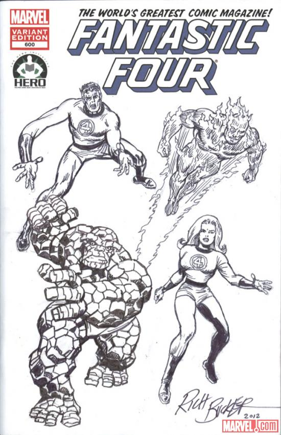 Fantastic Four #600 Hero Initiative variant cover by Rich Buckler