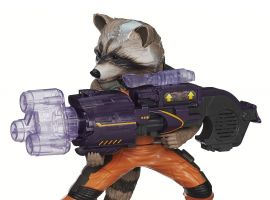 Big Blastin' Rocket Raccoon Figure from Hasbro