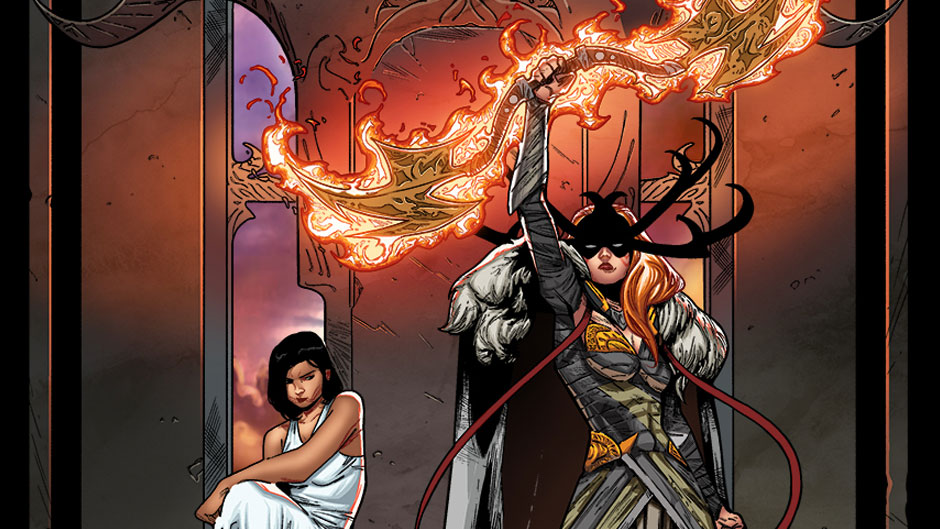 Angela: Queen of Hel preview art by Kim Jacinto
