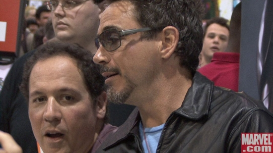 Jon Favreau and Robert Downey Jr.
