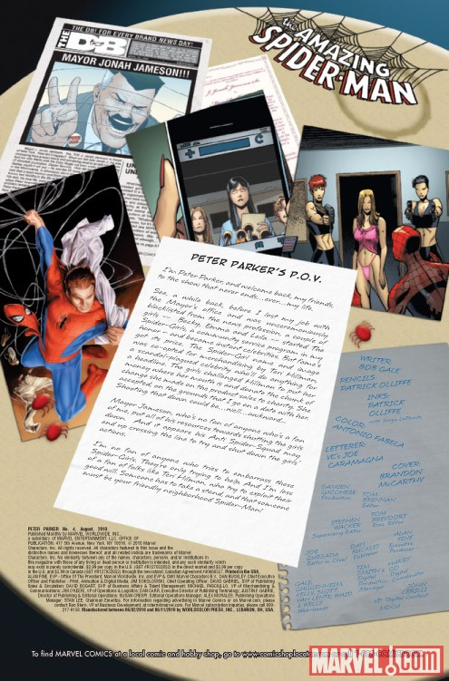 PETER PARKER #4 recap page