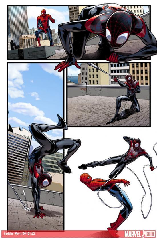 Превью-арты из Spider-Men #2