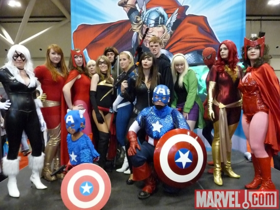 Cosplayers at Marvel's Fan Expo Canada Costume Contest