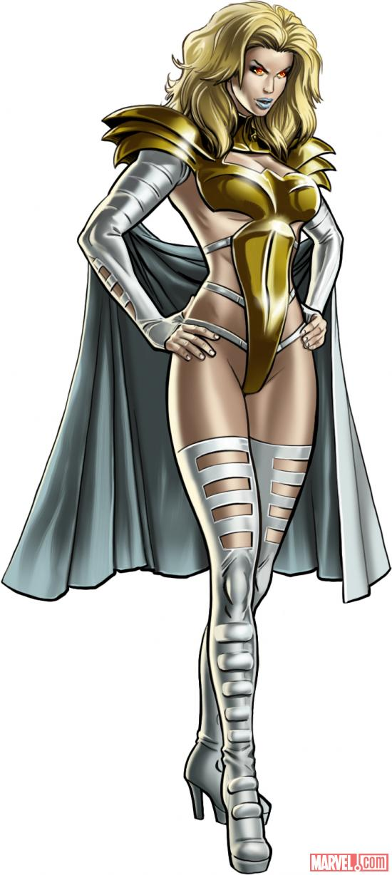 Emma Frost (alternate costume) character model from Marvel: Avengers Alliance