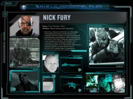 Screenshot of S.H.I.E.L.D. Director Nick Fury from the Second Screen Experience app