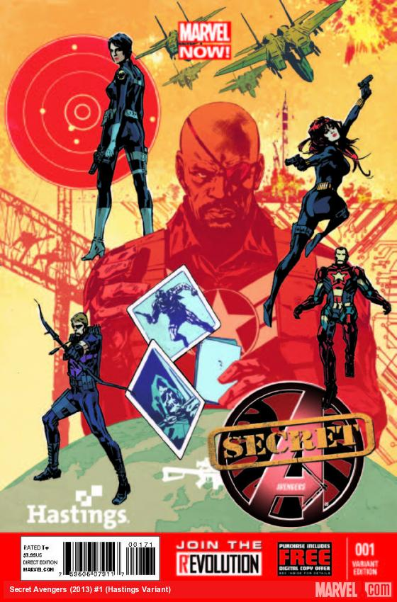 SECRET AVENGERS 1 HASTINGS VARIANT (NOW, WITH DIGITAL CODE)