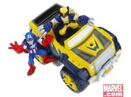 Mini Vehicles: Captain America & Wolverine