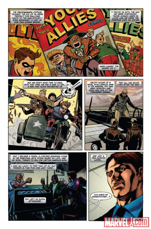 CAPTAIN AMERICA: FOREVER ALLIES #1 preview art by Nick Dragotta and Marco Santucci