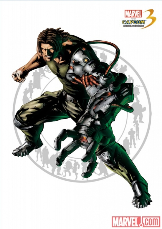 "Nathan Spencer character art from ""Marvel vs. Capcom 3"""