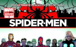 SPIDER-MEN 5 PICHELLI VARIANT (1 FOR 100, WITH DIGITAL CODE)