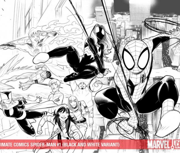 ULTIMATE COMICS SPIDER-MAN #1 (BLACK AND WHITE VARIANT)