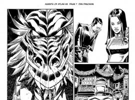 AGENTS OF ATLAS #9 black and white preview art by Dan Panosian