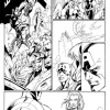 Fear Itself: The Fearless #1 black and white preview art by Mark Bagley