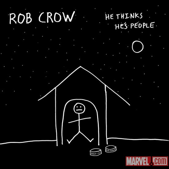 Rob Crow - 'He Thinks He's People' cover art