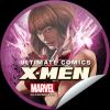 Ultimate Comics X-Men #7 sticker featuring Scarlet Witch
