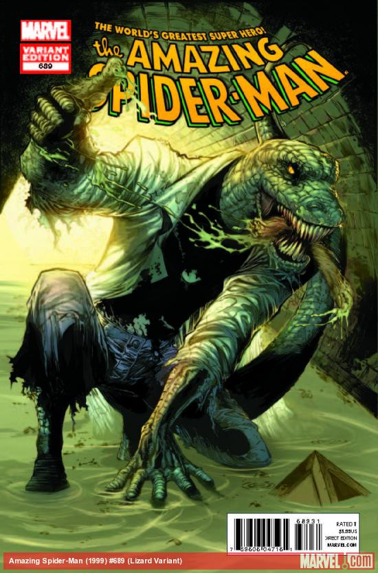 AMAZING SPIDER-MAN 689 LIZARD CLARK VARIANT (1 FOR 25, WITH DIGITAL CODE)