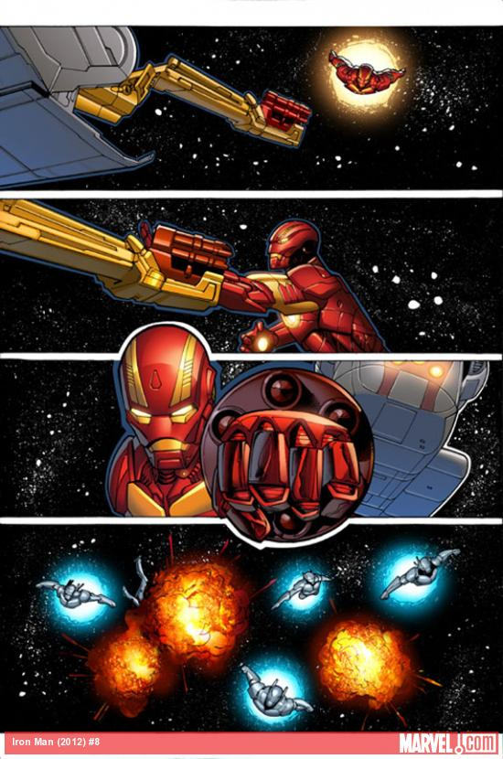 Iron Man (2012) #8 preview art by Greg Land